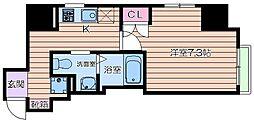 大阪府大阪市西区西本町1丁目の賃貸マンションの間取り