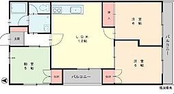 竹の郷マンション[1階]の間取り