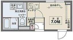 COCOCUBE  OOMORI 4階ワンルームの間取り