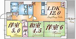 エスパシオ神戸[2階]の間取り