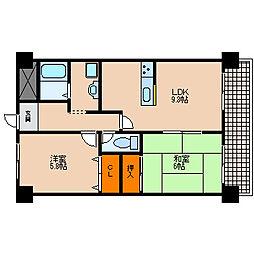 滋賀県愛知郡愛荘町市の賃貸マンションの間取り