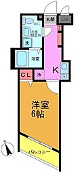 プランドールOsu[102号室]の間取り