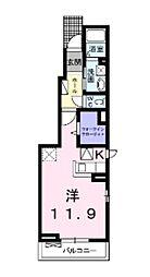 グレイス倉敷 A[101号室]の間取り