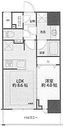 シティインデックス神田 5階1LDKの間取り