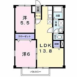 ニューシティ長谷川B館[2階]の間取り