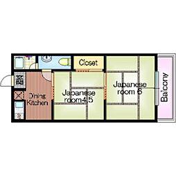 中岡第1マンション[3階]の間取り