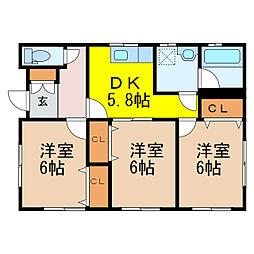 [一戸建] 栃木県栃木市藤岡町大前 の賃貸【/】の間取り