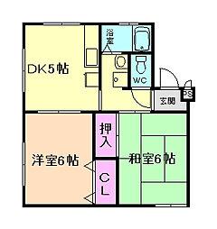 千里園マンション[3階]の間取り
