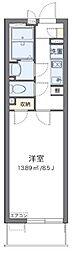 JR武蔵野線 三郷駅 徒歩8分の賃貸マンション 2階1Kの間取り