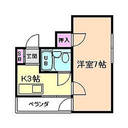 ブリリアンマンション[6階]の間取り