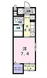 TMガーデンII[4階]の間取り