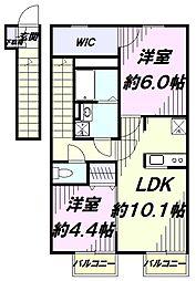 JR中央線 立川駅 バス12分 榎戸弁天下車 徒歩1分の賃貸アパート
