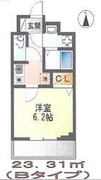 Casa Iris(カーサ イリス) 200B 3階1Kの間取り