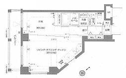 エルミタージュ蒲田南 6階1LDKの間取り