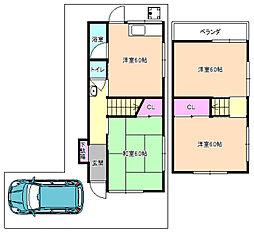 [一戸建] 大阪府枚方市大峰元町2丁目 の賃貸【/】の間取り