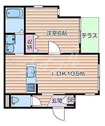 JR東海道・山陽本線 岸辺駅 徒歩5分の賃貸マンション 1階1LDKの間取り