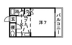 サンコーポ新宮[1階]の間取り