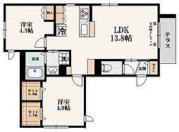 JR山手線 大塚駅 徒歩8分の賃貸マンション 1階2LDKの間取り