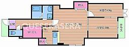 京阪本線 千林駅 徒歩5分の賃貸アパート 1階2LDKの間取り