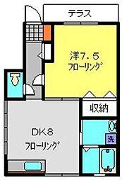 フォレスト笹下[101号室]の間取り