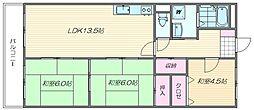 福岡県福岡市東区香椎駅東4丁目の賃貸マンションの間取り