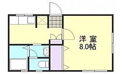 ビーライン西富井[2階]の間取り