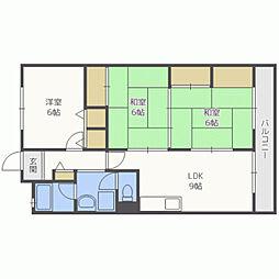 ユアーズマンション21[509号室]の間取り