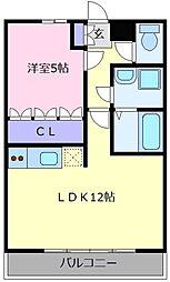 フォンテーヌ美原[2階]の間取り