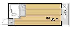 ファラン鈴蘭台[4階]の間取り