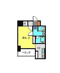 JR京浜東北・根岸線 川崎駅 バス12分 浜町三丁目下車 徒歩1分の賃貸マンション 7階1Kの間取り