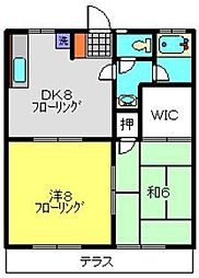 パステルハイムA棟[1階]の間取り