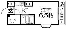 ブルグリンコート香里園[4階]の間取り
