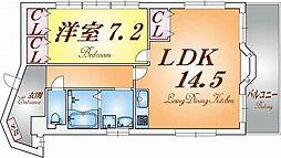 羽坂ヤマトビル[6階]の間取り