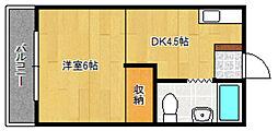 IT本町[4階]の間取り