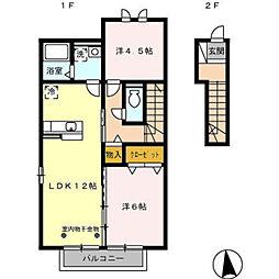プリマベーラ[2階]の間取り