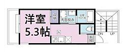 (仮称)大宮区大成町計画 3階1Kの間取り