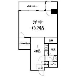コージーハウス横浜南[303号室]の間取り