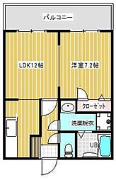 RIKOボヌール[203号室]の間取り