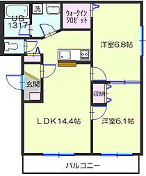 ディアマンII[2階]の間取り