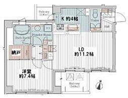 カスタリア三宿[4階]の間取り