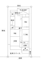 [一戸建] 福岡県福岡市東区大岳3丁目 の賃貸【/】の間取り