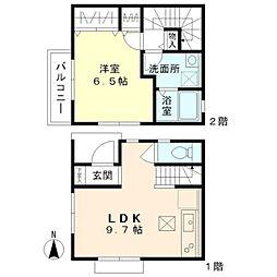 [タウンハウス] 東京都小平市学園西町2丁目 の賃貸【/】の間取り