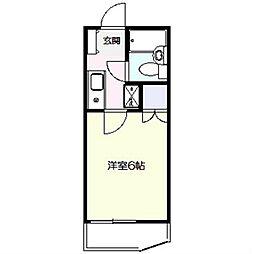 シャルム戸塚[203号室]の間取り