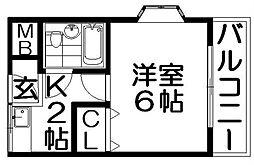 グランドハイツ3号館[4階]の間取り