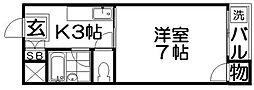 寿ハイツ2[1階]の間取り