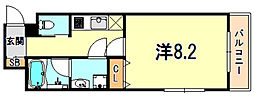 ワコーレヴィアーノ須磨関守町2丁目 1階1Kの間取り