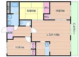 稲五番館[1階]の間取り