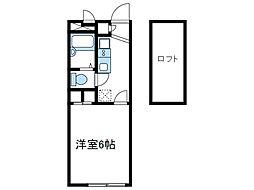 神奈川県海老名市大谷北2丁目の賃貸アパートの間取り