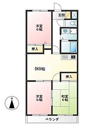 東京都杉並区善福寺2丁目の賃貸マンションの間取り
