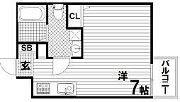 ラ・ウェゾン須磨エルロロ[3階]の間取り